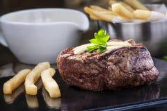 牛排里脊肉 免版税库存照片