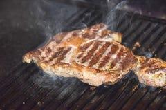 牛排ribi黑色安格斯烤了 免版税库存照片