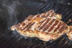 牛排ribi黑色安格斯烤了 免版税库存图片