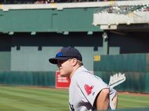 牛栏更加接近的乔纳森papelbon Red Sox等待 免版税库存图片