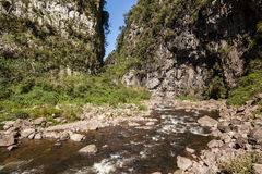 黄牛河, Canion Itaimbezinho - Aparados da Serra nat公园的 图库摄影