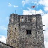 牛津城堡和旗子 免版税库存照片