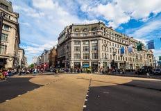 牛津马戏的人们在伦敦, hdr 图库摄影