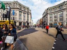 牛津马戏的人们在伦敦, hdr 免版税库存图片