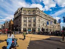 牛津马戏的人们在伦敦, hdr 库存图片