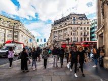 牛津马戏的人们在伦敦(hdr) 图库摄影