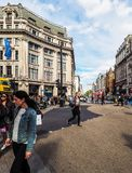 牛津马戏的人们在伦敦(hdr) 库存照片
