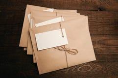 从牛皮纸的信封 免版税图库摄影