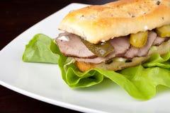 牛肉三明治 免版税库存照片