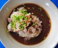 牛肉中国食物面馆 库存照片