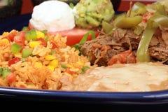 牛肉可口墨西哥牌照 免版税库存照片