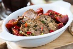 牛肉和西红柿开胃菜  免版税库存图片