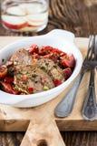 牛肉和西红柿开胃菜  免版税图库摄影