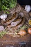 牛肉和鹿肉自创香肠  库存照片