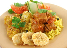 牛肉咖喱印地安人 库存照片