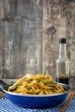 牛肉在煎锅的食物mein 中国食物 免版税库存图片