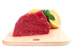 牛肉块牛排 免版税库存图片