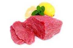 牛肉块牛排 库存照片