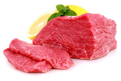 牛肉块牛排 库存图片