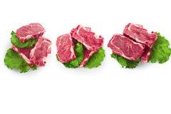 牛肉块肉steacks 库存图片