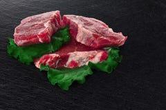 牛肉块肉steacks 免版税库存图片