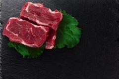 牛肉块肉steacks 图库摄影