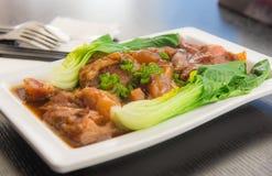 牛肉嫩中国食物样式 免版税库存照片