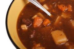 牛肉宏观炖煮的食物 免版税库存图片