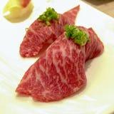 牛肉寿司 库存图片