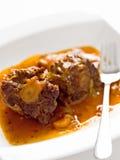 牛肉尾巴牛尾炖煮的食物 免版税图库摄影