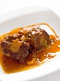 牛肉尾巴牛尾炖煮的食物 免版税库存图片