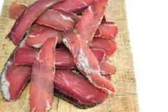 牛肉干咸肉条 库存图片