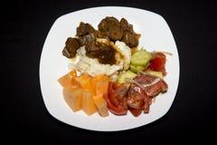 牛肉晚餐 库存图片