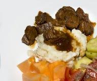 牛肉晚餐 免版税图库摄影