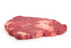 牛肉查出的原始的牛排白色 库存图片