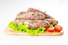 牛肉格栅猪肉香肠 免版税库存图片