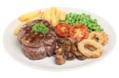 牛肉正餐里脊肉牛排 免版税库存照片