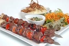 牛肉水多的kebabs 图库摄影