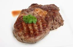 牛肉水多的ribeye牛排 库存图片
