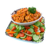 牛肉沙拉意大利式饺子 库存图片