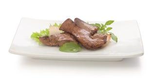 牛肉油煎了肝脏 免版税库存图片