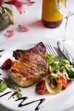 牛肉烤牛排蔬菜 免版税图库摄影