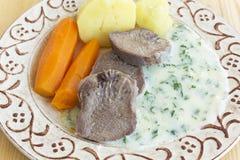 牛肉煮沸的舌头 图库摄影