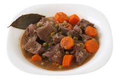 牛肉牌照炖煮的食物 免版税库存图片