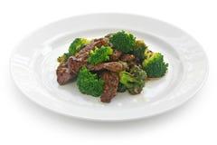 牛肉硬花甘蓝中国人食物 免版税库存照片