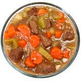 牛肉碗炖煮的食物蔬菜 免版税库存图片