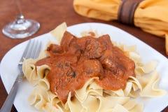 牛肉自创沙拉酱肉 免版税库存图片