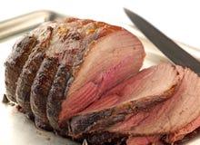 牛肉被雕刻的roat 免版税图库摄影