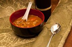 牛肉辣咖喱的膳食 免版税图库摄影