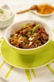 牛肉辣炖煮的食物 库存图片